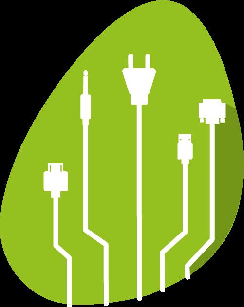 Icones de câbles