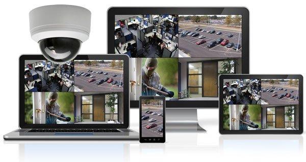 Protection et surveillance vidéo d'entreprise sur mobil et tablettes