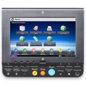 L'écran de contrôle du copieur Taskalfa